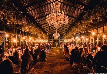 Die Woud wedding hanging bulbs