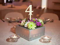 Wooden flower box wedding decor cap town