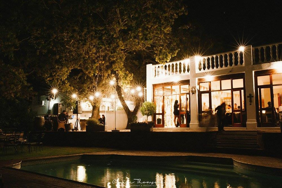Festoon lights to  hire in Cape Town