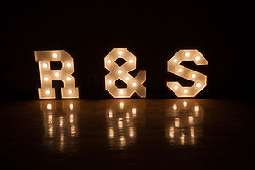 Mr & Mrs letters to hire Cape Town