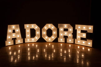 letter lighting to hire cape town