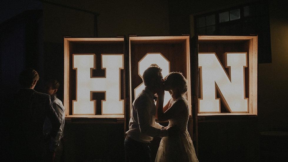 Wederom weddings Marquee lights