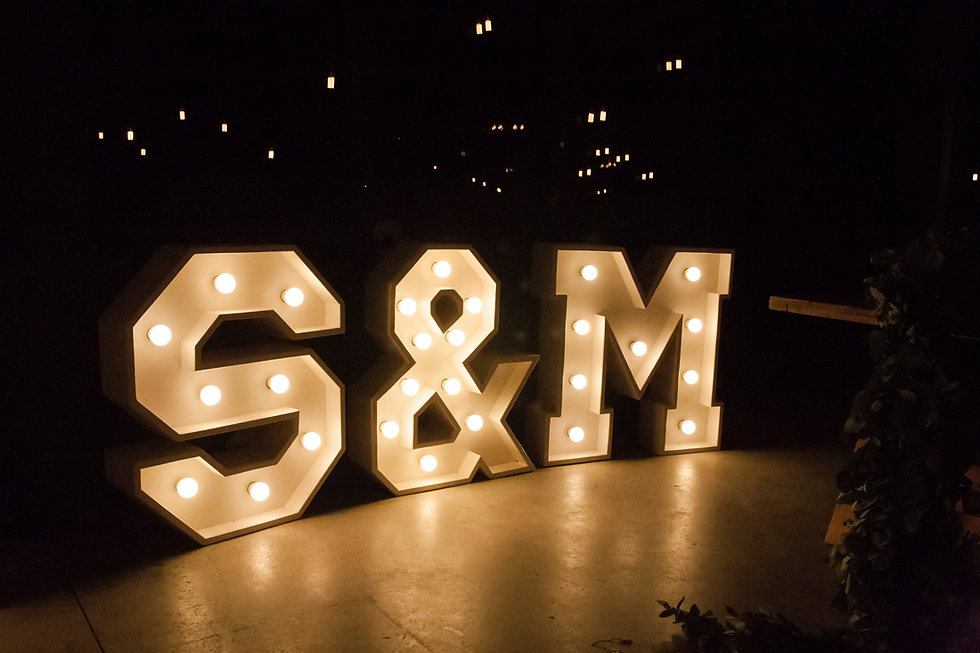 Letters with lights to hire Cape Town