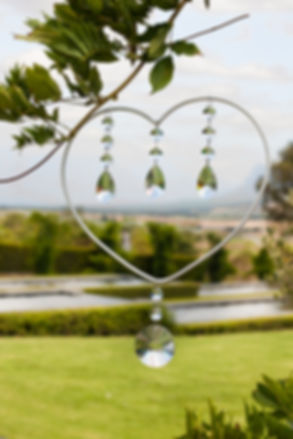 hearts for wedding to hire Cape Town