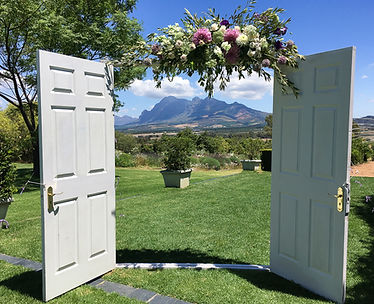 Outdoor wedding doors Cape town