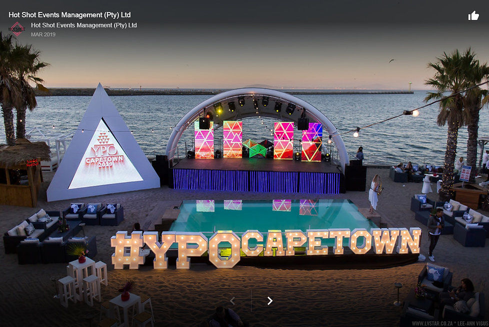 Event lighting Cape Town Shimmy beach