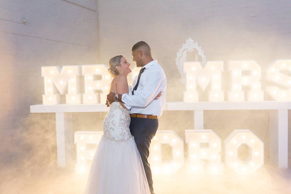 Mr & Mrs lights to hire Cape Town