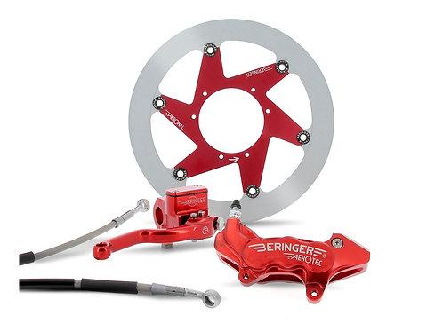 """Kit freinage BERINGER Top Race roue 17"""" étrier axial 6 pistons rouge KX/KXF"""