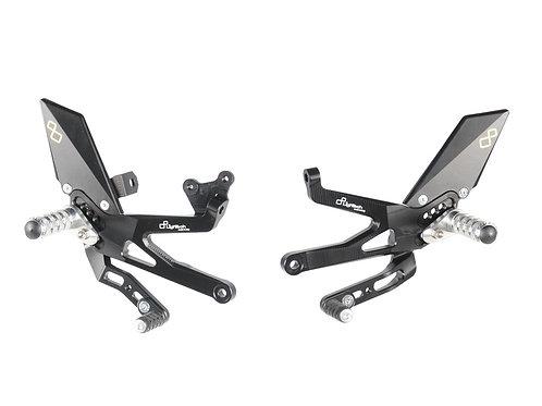 Commandes reculées réglables/repliables LIGHTECH noir Ducati Panigale V4