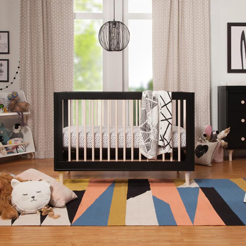 Elegant Nursery with Black Crib
