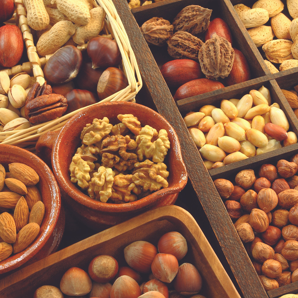different nuts and seeds