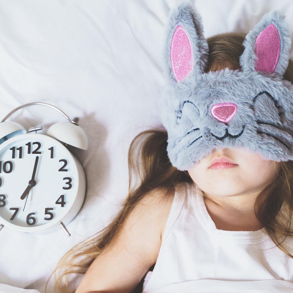 toddler sleeping routine concept photo