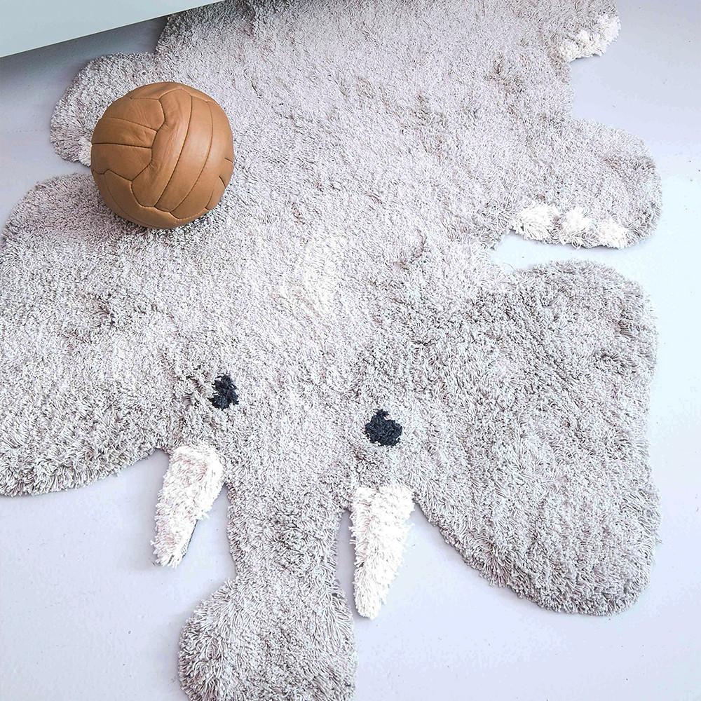 kids depot eric elephant rug on nursery