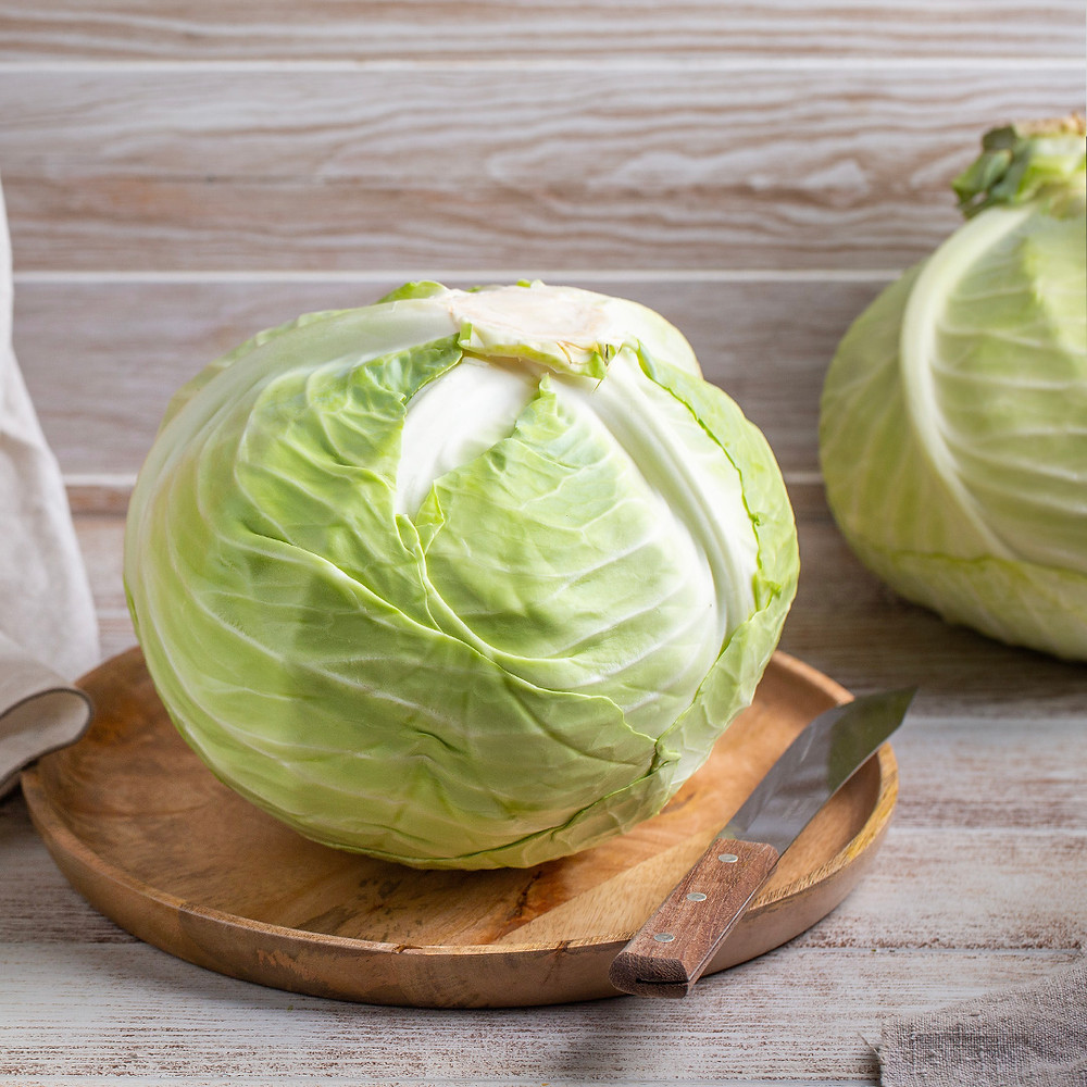 cabbage on top of a table