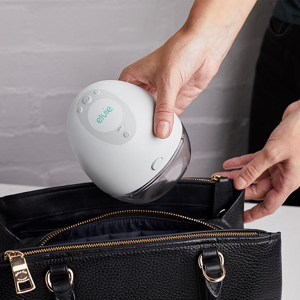 elvie breast pump in bag