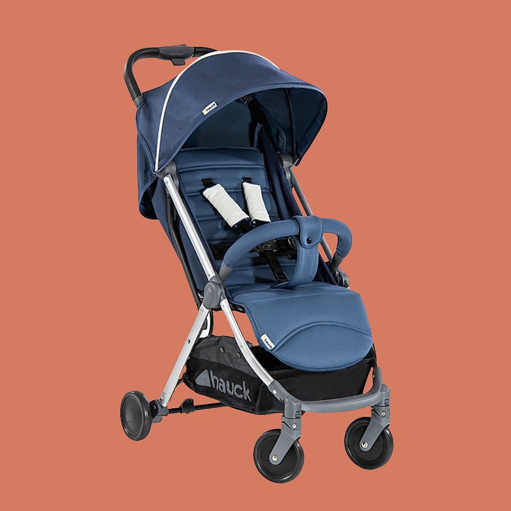 Hauck one hand fold swift plus blue stroller lightweight