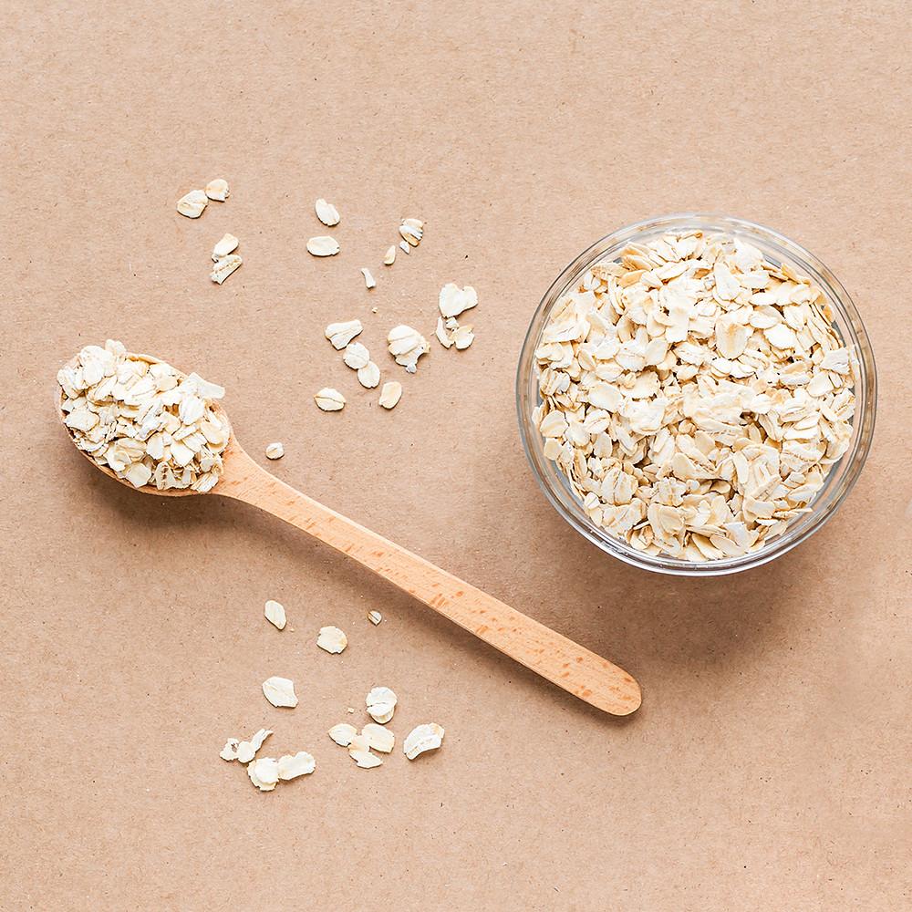 Oatmeal-alternative-on-beige-background