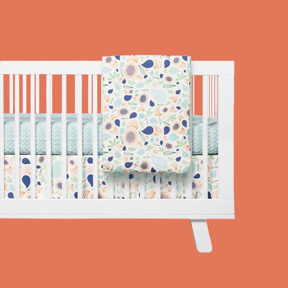 babyletto fleeting nursery set of mattress and bedding