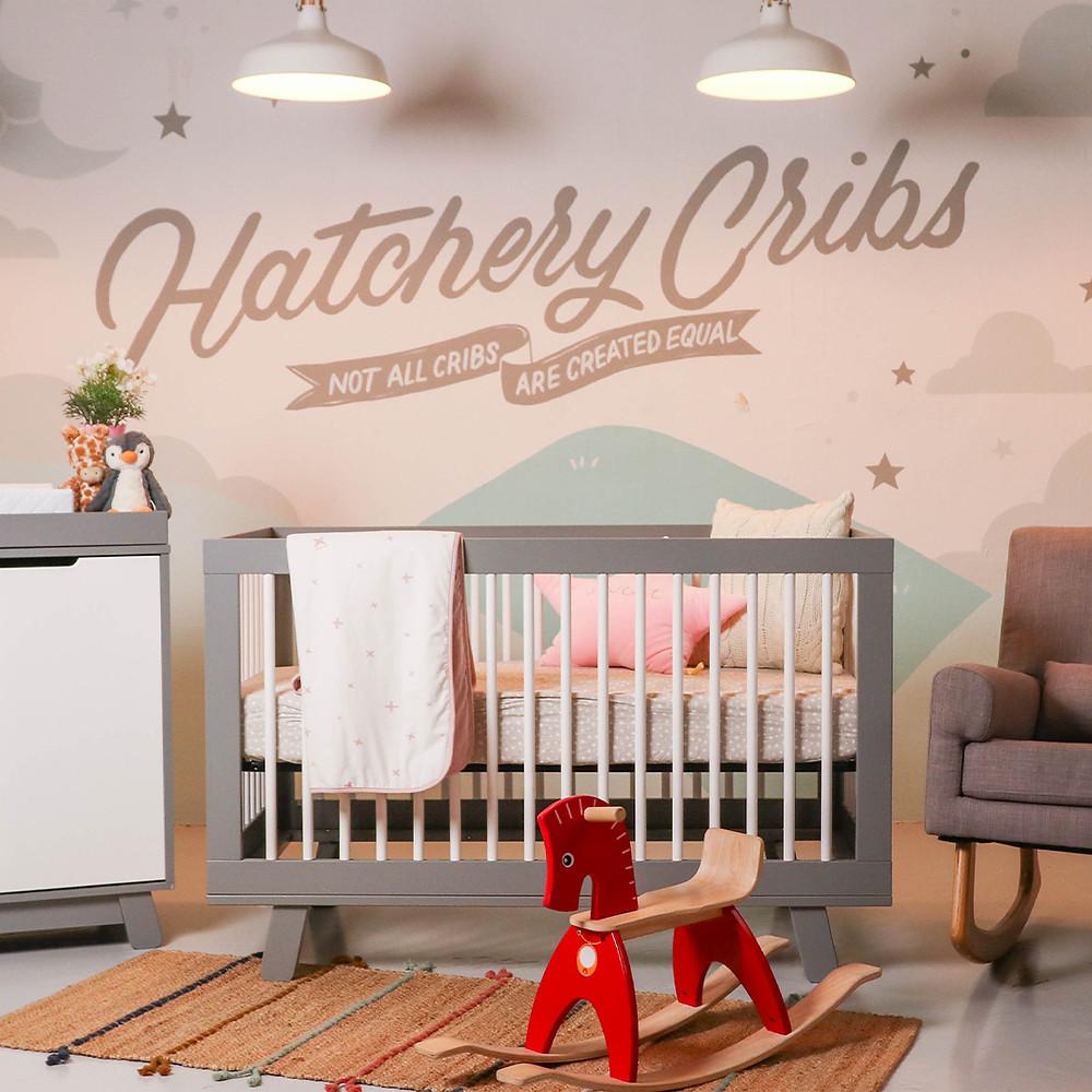 Elegant Nursery with Grey Crib