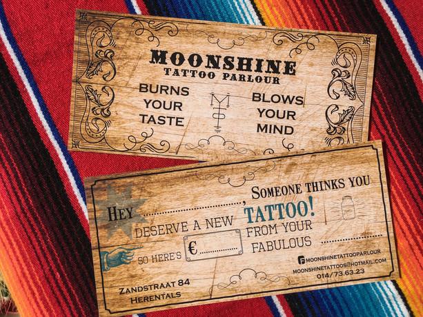 Moonshine Tattoo Parlour Cadeaubon design