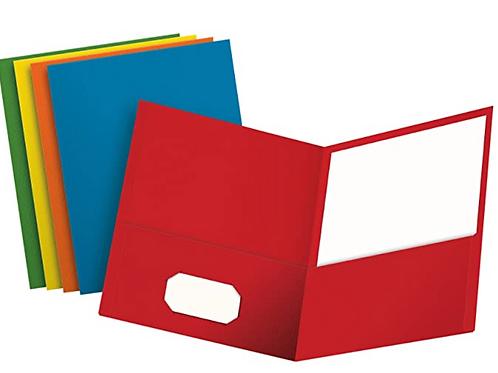 Pocket Folders, Paper