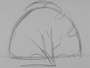 Combine a Structural Sketch with Values to Draw a Tree