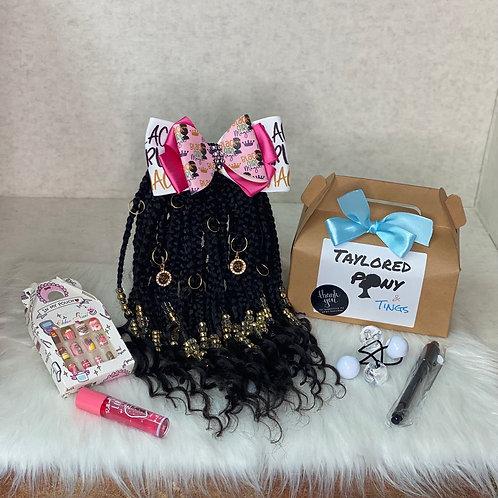 Black Girl Magic Gold (braids w/ curly tips)