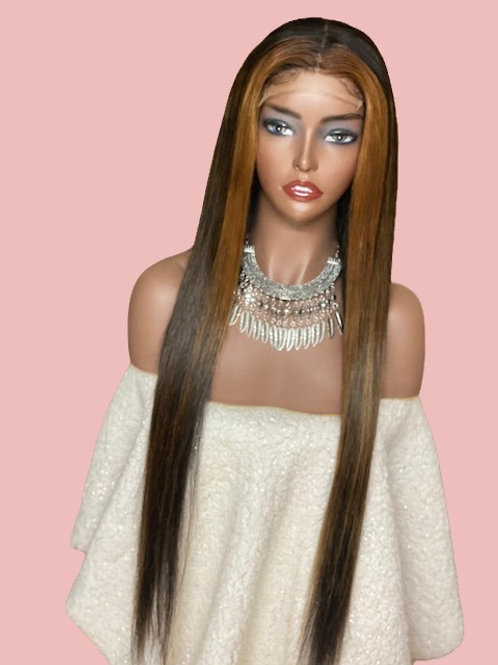 26' highlighted wig/unit (lrg size)