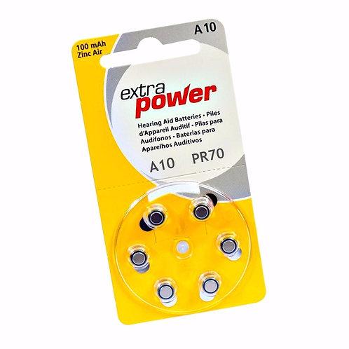 BATERIA PARA APARELHO AUDITIVO 10 EXTRA POWER