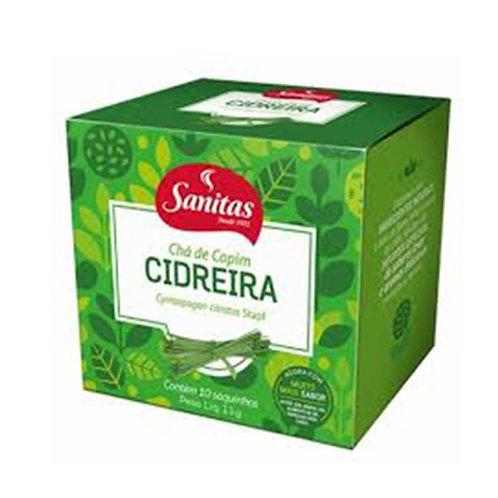 CHÁ CAPIM CIDREIRA SANITAS 11g C/10 - LIFAR