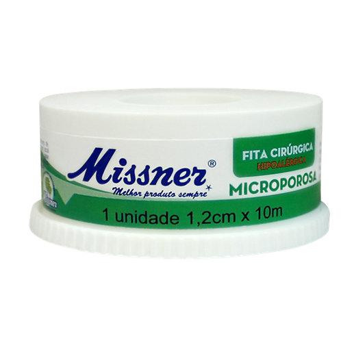 FITA MICROPOROSA MISSNER BRANCA  12mm x 10mts