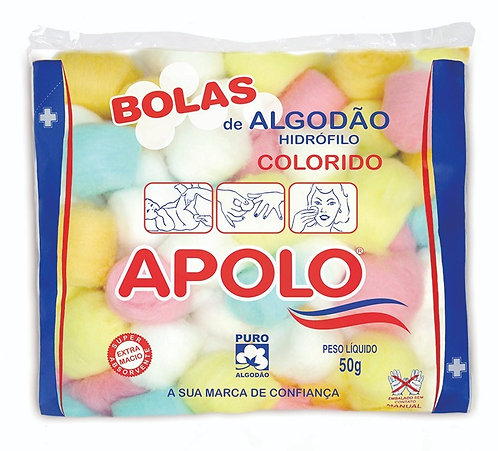 ALGODÃO BOLA  50G APOLO COLORIDO
