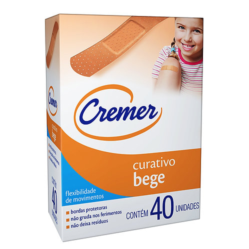CURATIVO CREMER BEGE C/40