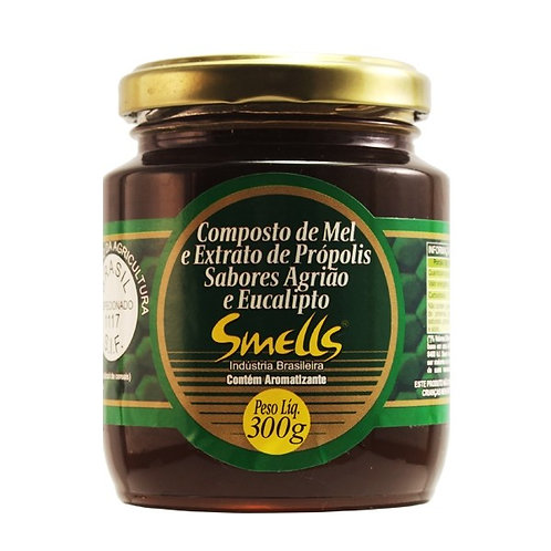 SMELLS MEL 300g C/PRÓPOLIS E EUCALIPTO E AGRIAO