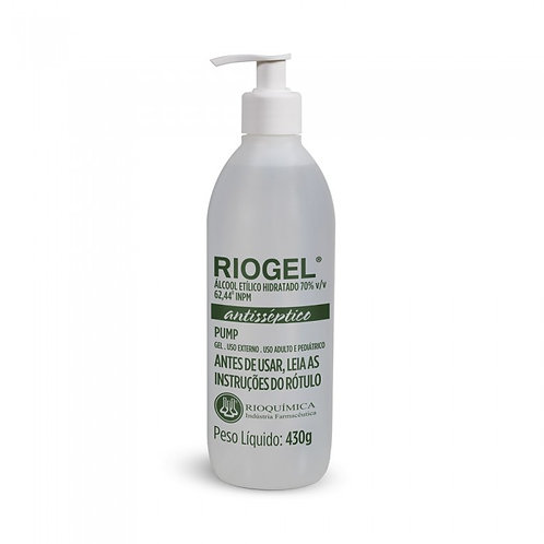 ALCOOL GEL  430g 500ml RIOQUIMICA PUMP (RIOGEL)