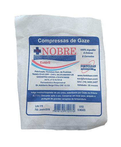 COMPRESSA GAZE ESTERIL 13 FIOS (400x10) - NOBRE