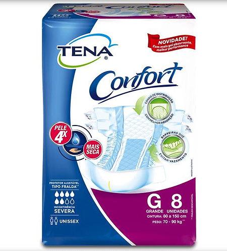 FRALDA DESC.TENA CONFORT G C/8