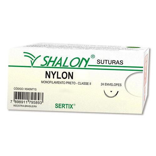 NYLON 1 PRETO C/AG.3 CTI SHALON (C/24)