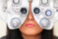 Woman sight testing