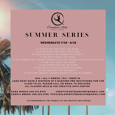 CADS summer session overview
