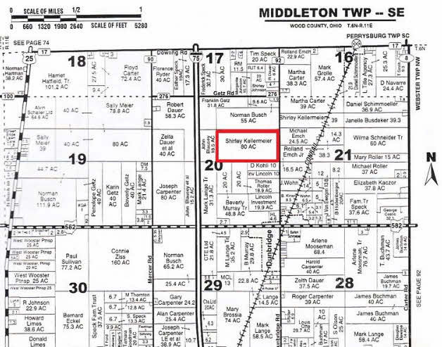 10/25/13 Wood County, OH Auction Sale $750,000