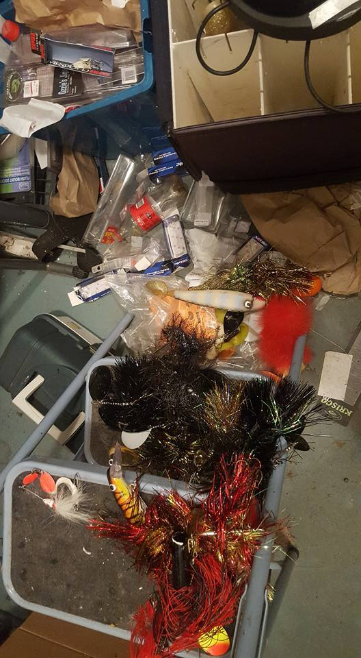 Fishing tackle mess spring cleaning