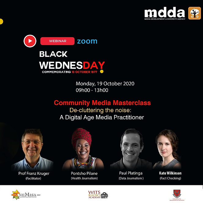 Black Wednesday Masterclass - SM Poster.