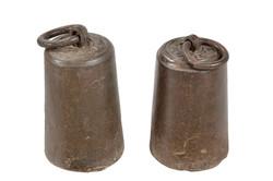 משקולת ברזל עתיקה גדולה