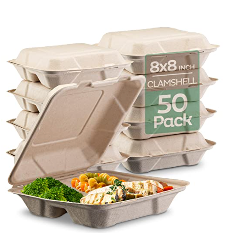 Compostable clamshell containers