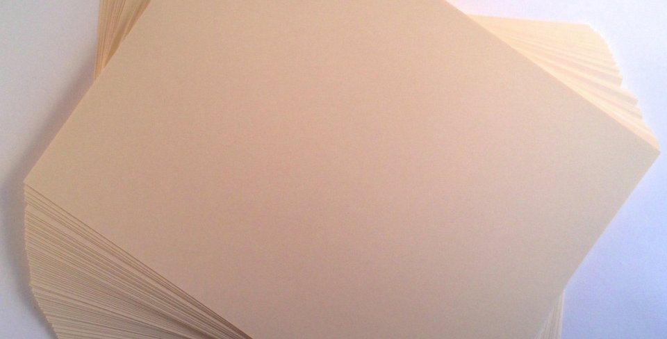 60 Sheets of Super Smooth Ivory Card Stock