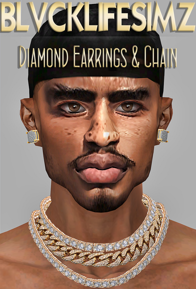 BLS :: DIAMOND EARRINGS & CHAIN