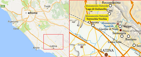 Access map of Torrecchia Vecchia