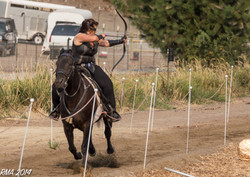 Mounted Archer Roberta Beene