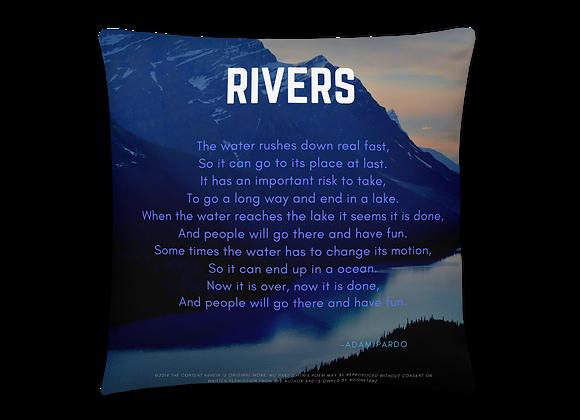 """Rivers"" Pillow"